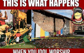 God Strikes Down George Floyd Idol